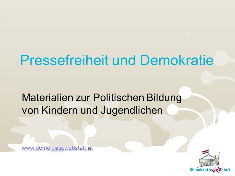 Pressefreiheit und Demokratie
