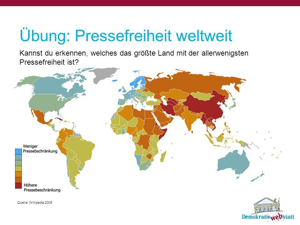 Übung: Pressefreiheit weltweit