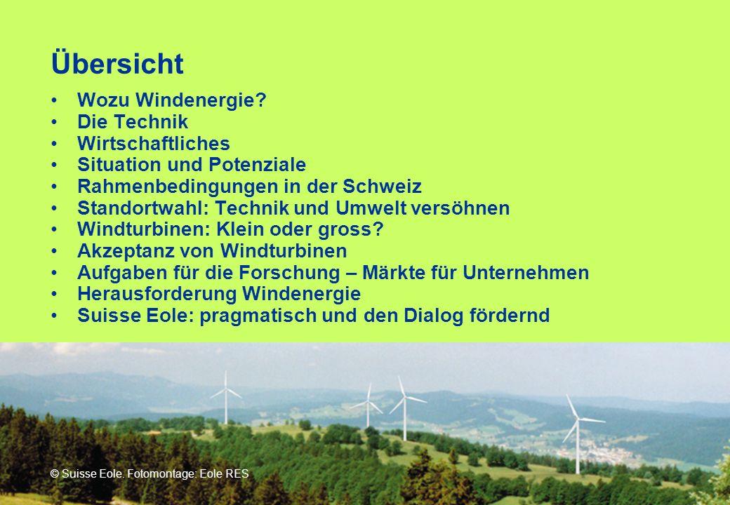 Übersicht Wozu Windenergie Die Technik Wirtschaftliches