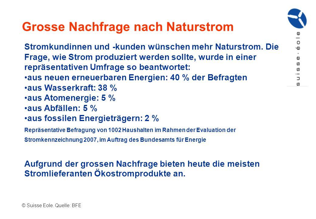 Grosse Nachfrage nach Naturstrom