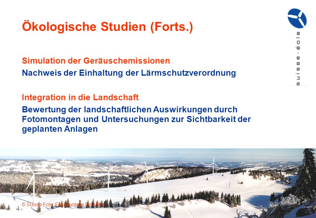 Ökologische Studien (Forts.)