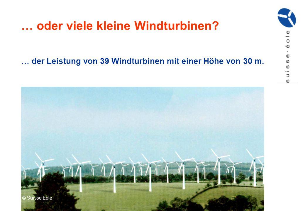 … oder viele kleine Windturbinen