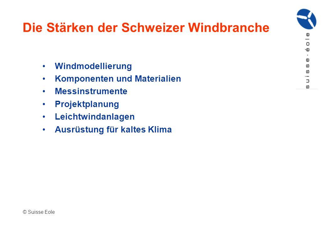 Die Stärken der Schweizer Windbranche