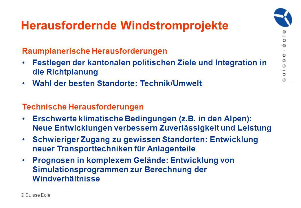 Herausfordernde Windstromprojekte