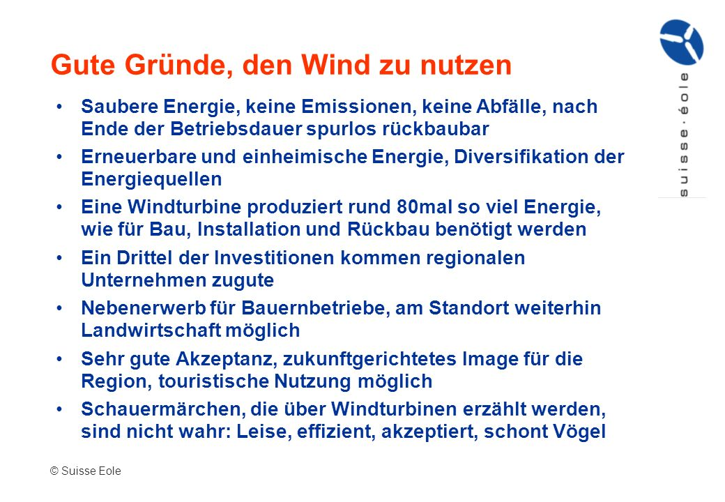 Gute Gründe, den Wind zu nutzen