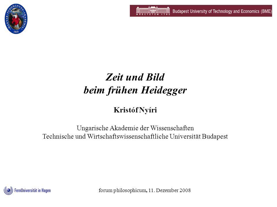 Zeit und Bild beim frühen Heidegger