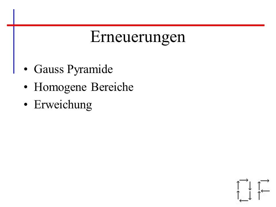 Erneuerungen Gauss Pyramide Homogene Bereiche Erweichung