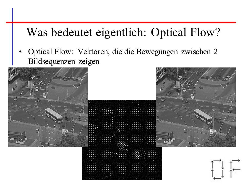 Was bedeutet eigentlich: Optical Flow