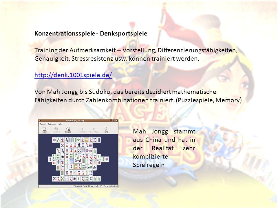 Konzentrationsspiele - Denksportspiele