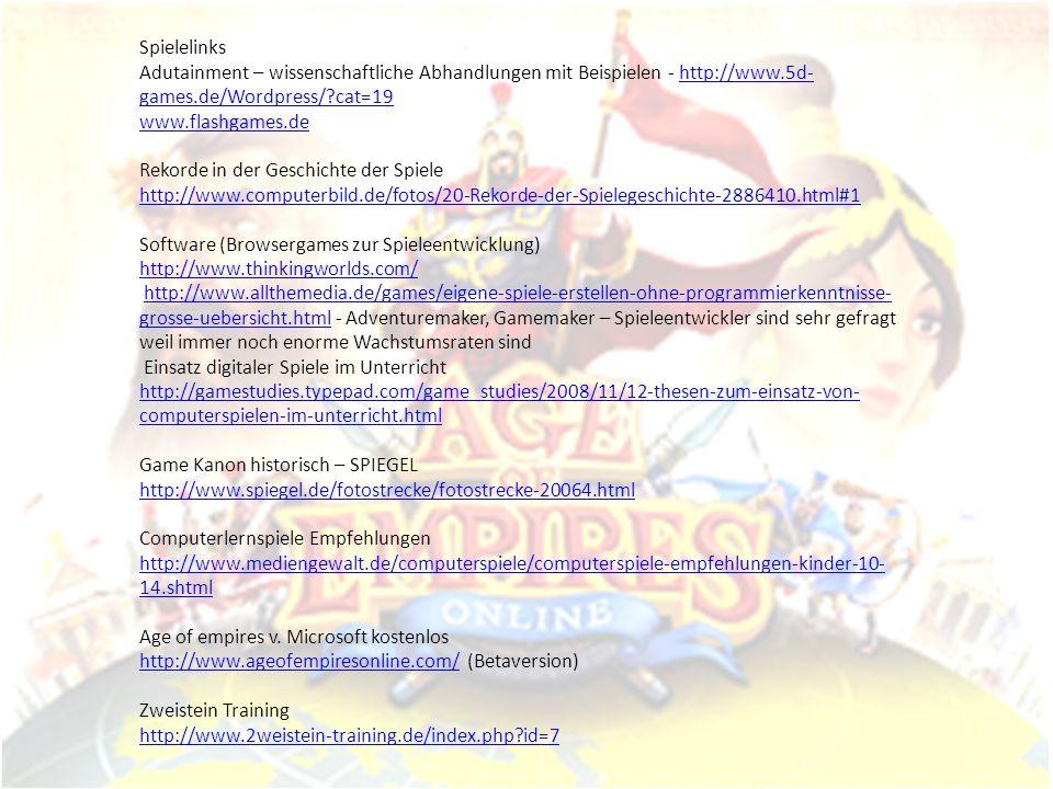 Spielelinks Adutainment – wissenschaftliche Abhandlungen mit Beispielen - http://www.5d-games.de/Wordpress/ cat=19.
