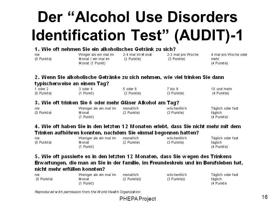 Der Alcohol Use Disorders Identification Test (AUDIT)-1