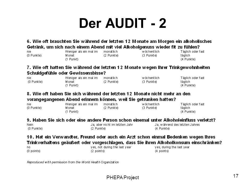 Der AUDIT - 2 PHEPA Project