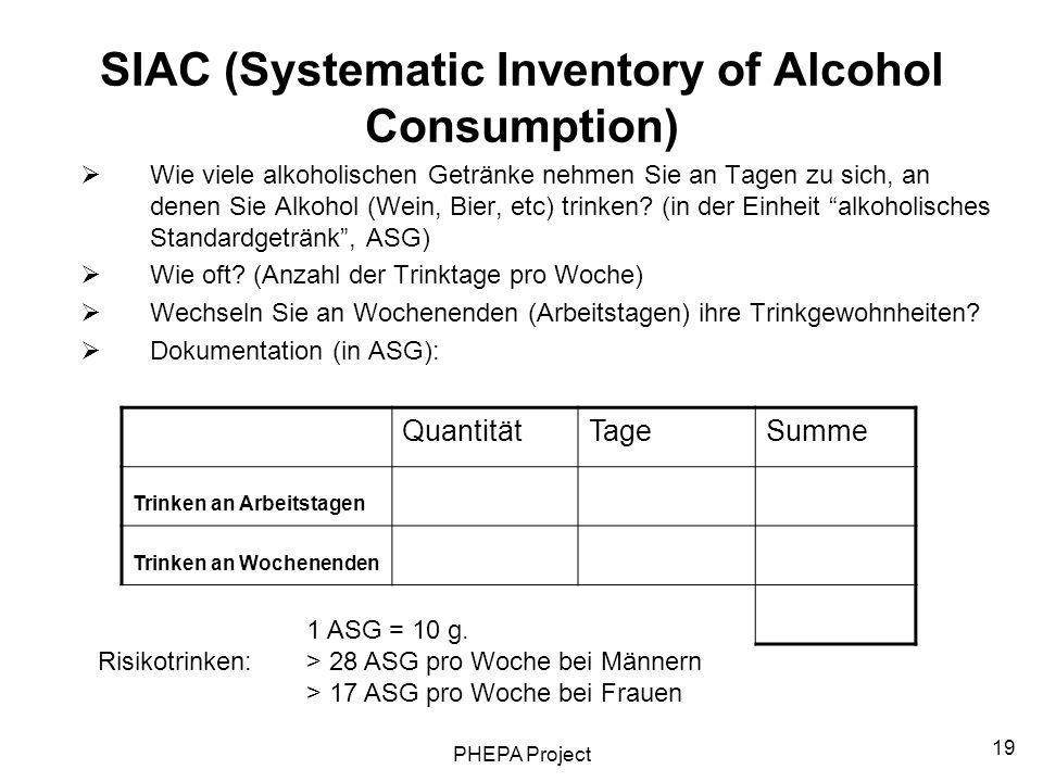 SIAC (Systematic Inventory of Alcohol Consumption)