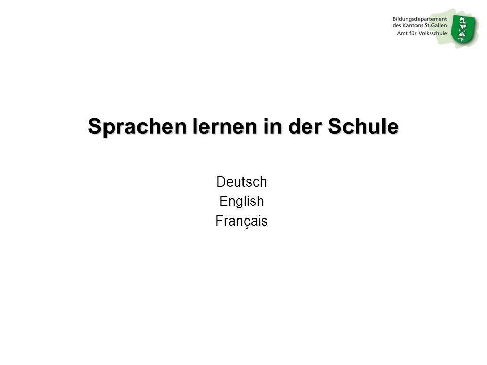 Sprachen lernen in der Schule