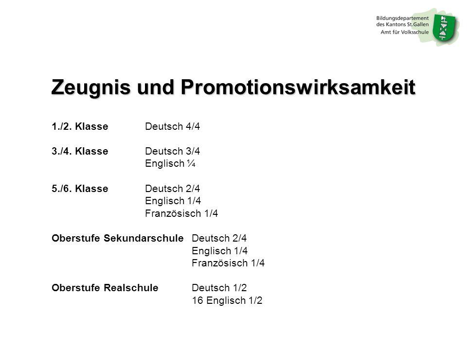 Zeugnis und Promotionswirksamkeit