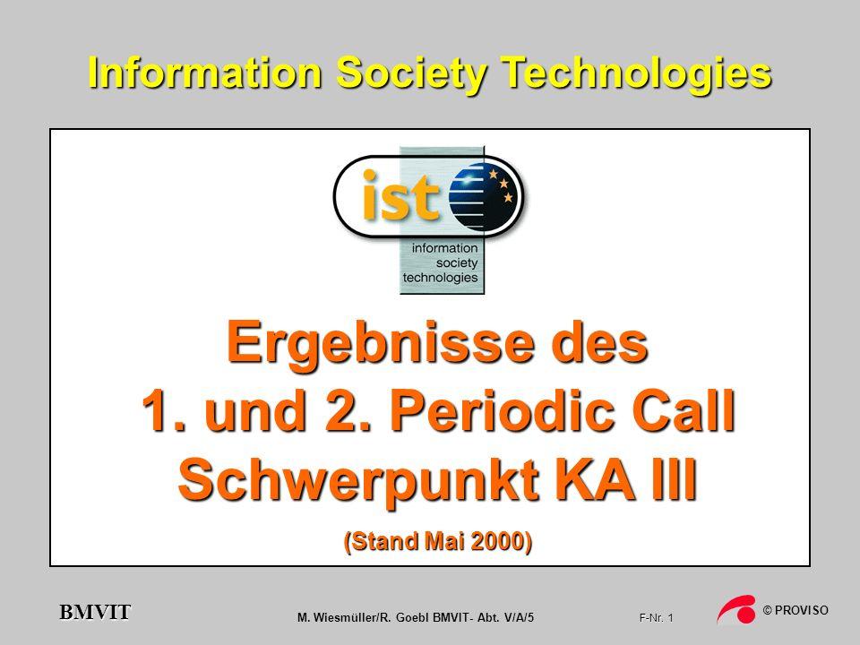 Ergebnisse des 1. und 2. Periodic Call Schwerpunkt KA III