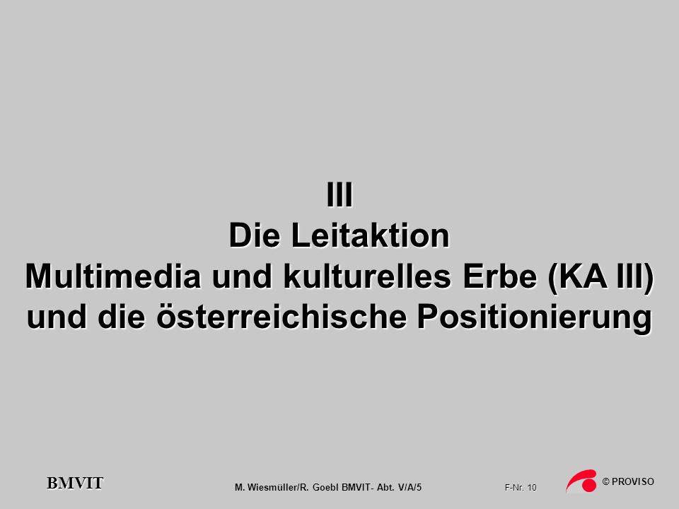 Multimedia und kulturelles Erbe (KA III)