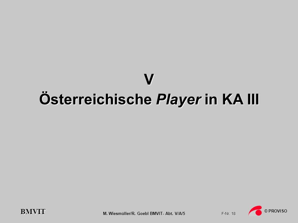 Österreichische Player in KA III