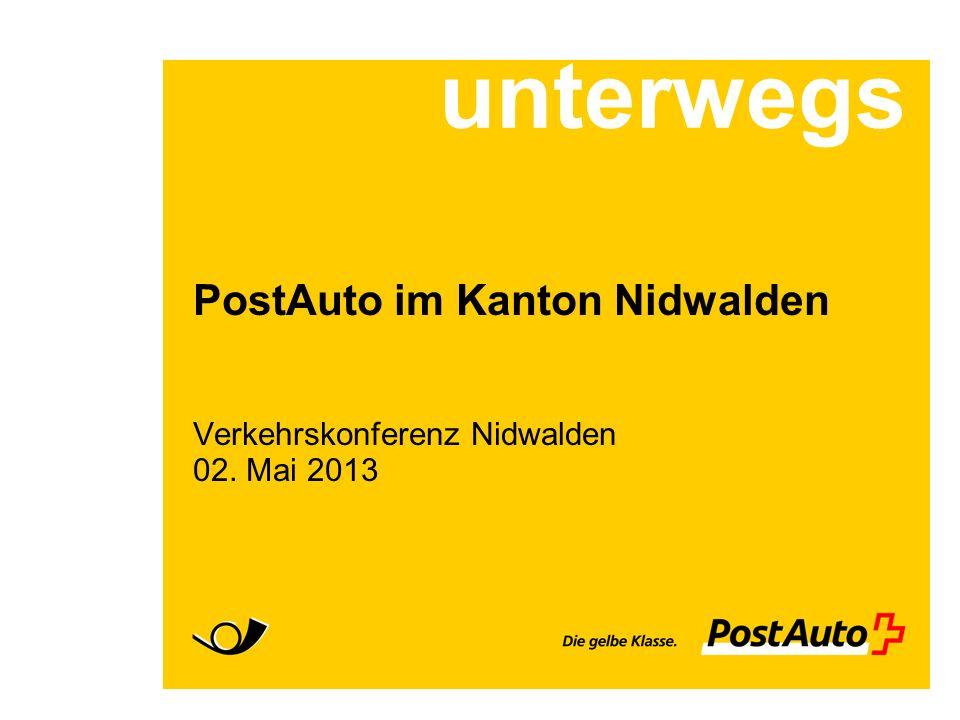 PostAuto im Kanton Nidwalden Verkehrskonferenz Nidwalden 02. Mai 2013