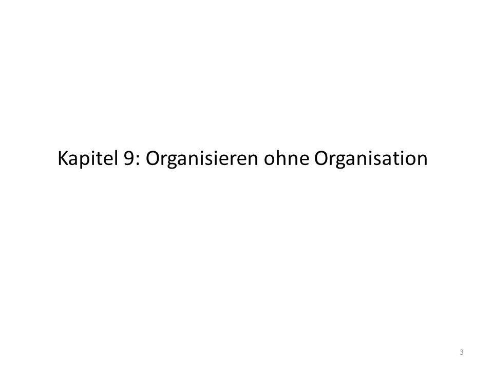 Kapitel 9: Organisieren ohne Organisation