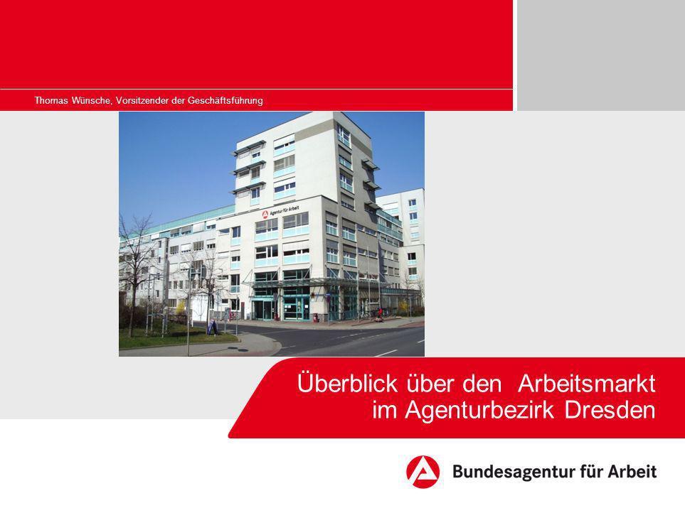 Überblick über den Arbeitsmarkt im Agenturbezirk Dresden