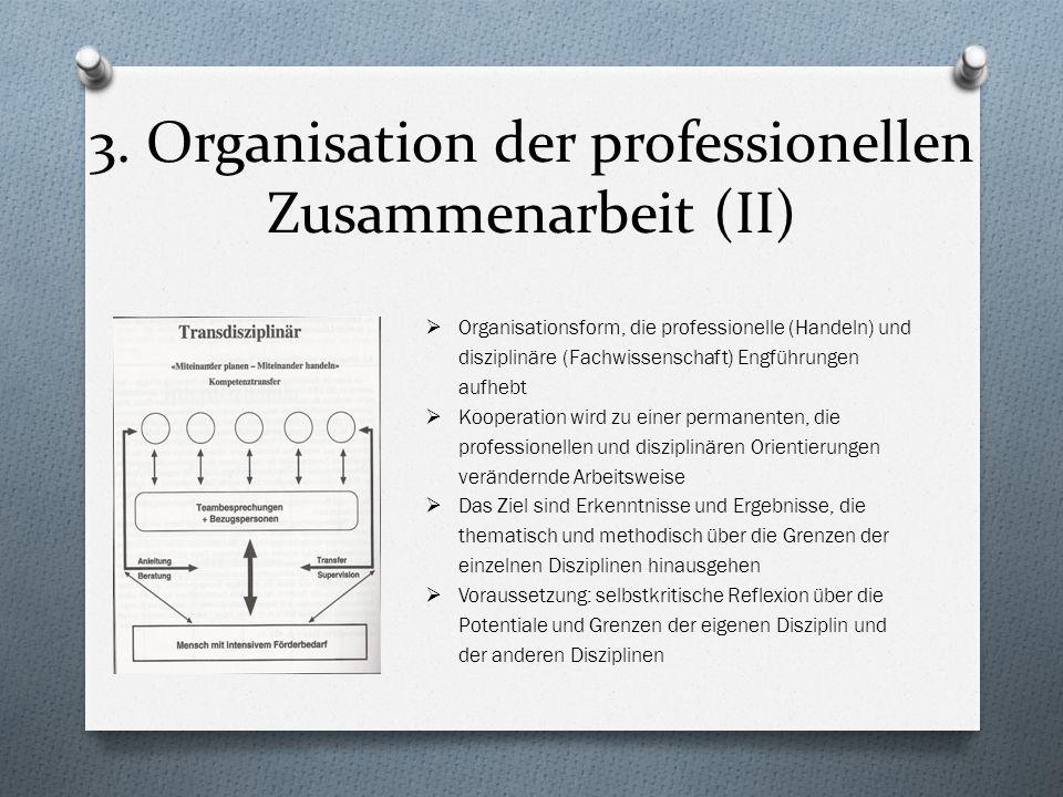 3. Organisation der professionellen Zusammenarbeit (II)