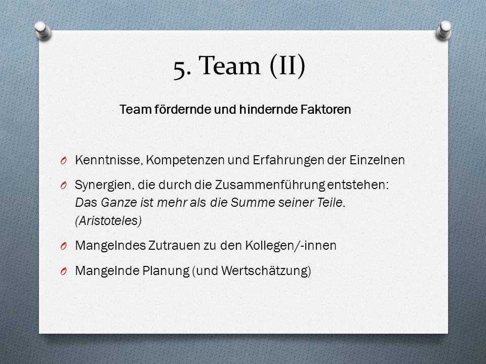 Team fördernde und hindernde Faktoren