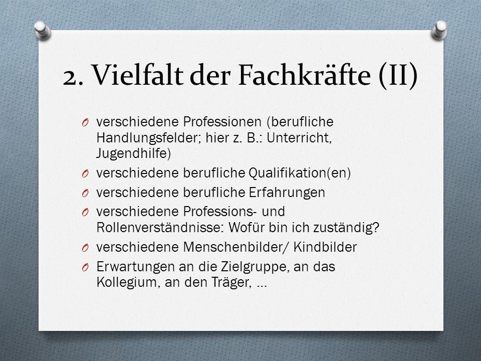 2. Vielfalt der Fachkräfte (II)