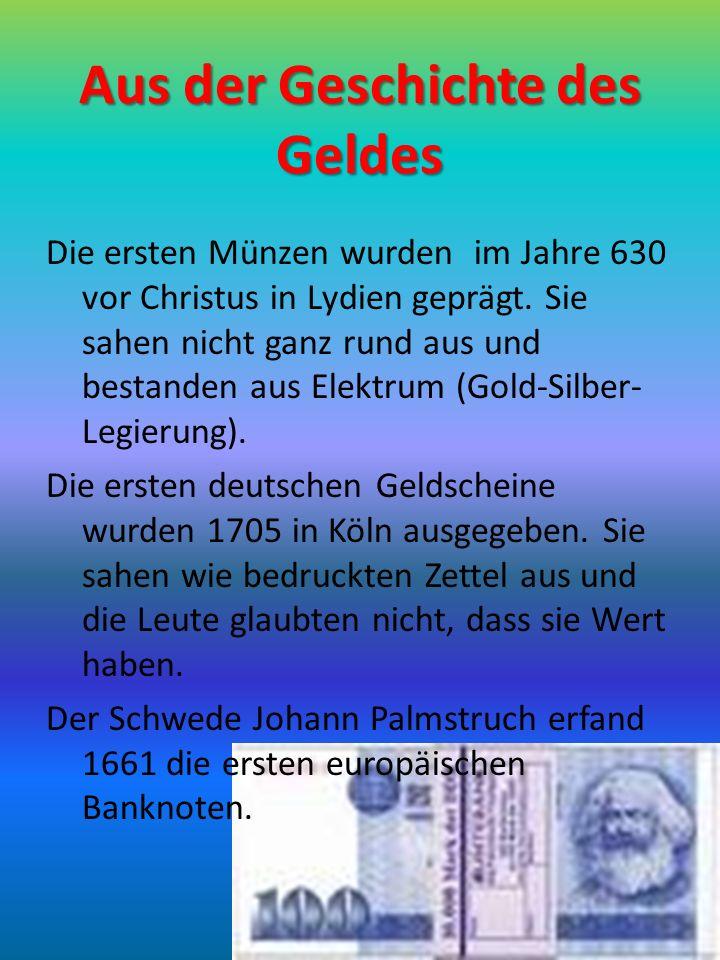 Aus der Geschichte des Geldes