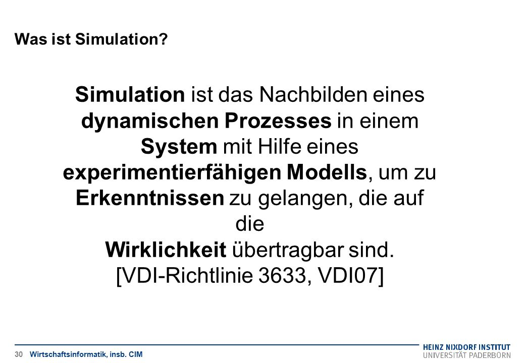 Was ist Simulation