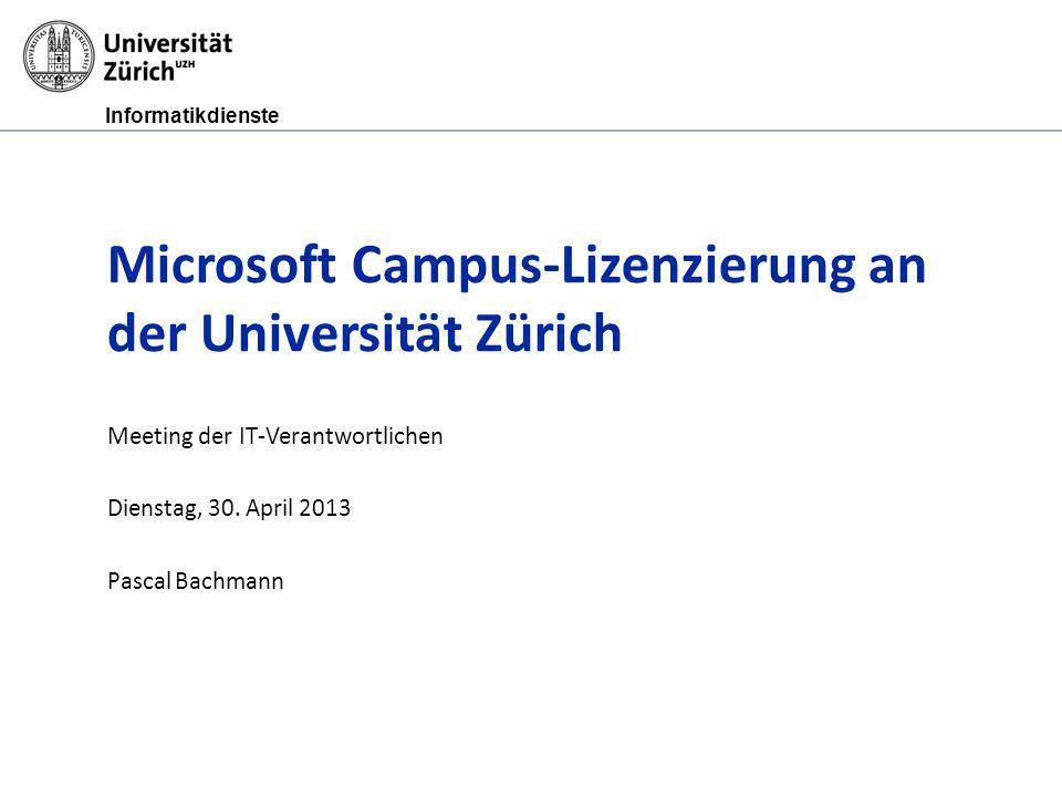 Microsoft Campus-Lizenzierung an der Universität Zürich