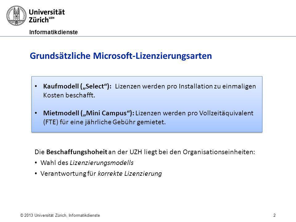Grundsätzliche Microsoft-Lizenzierungsarten