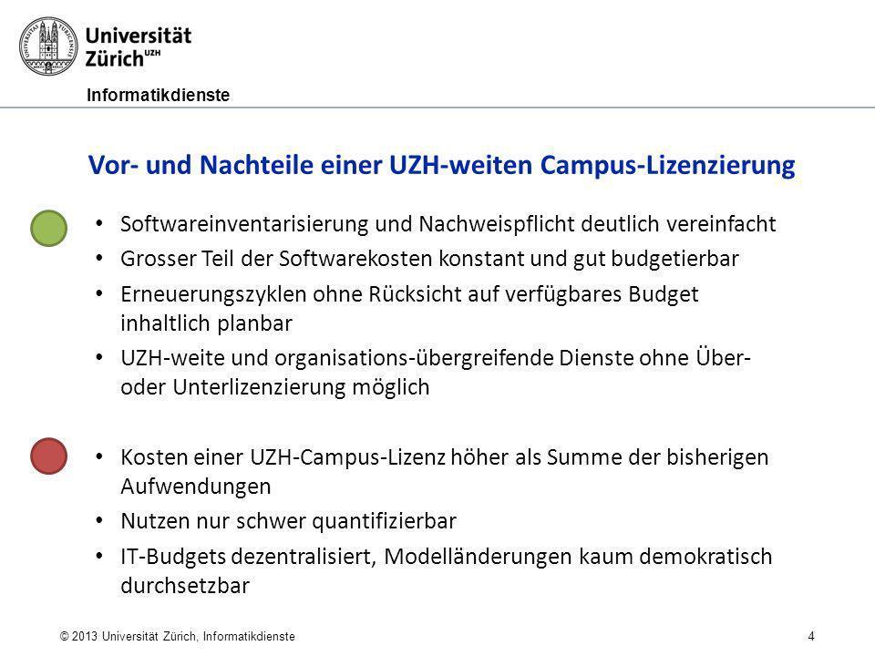 Vor- und Nachteile einer UZH-weiten Campus-Lizenzierung