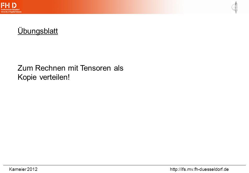 Übungsblatt Zum Rechnen mit Tensoren als Kopie verteilen!