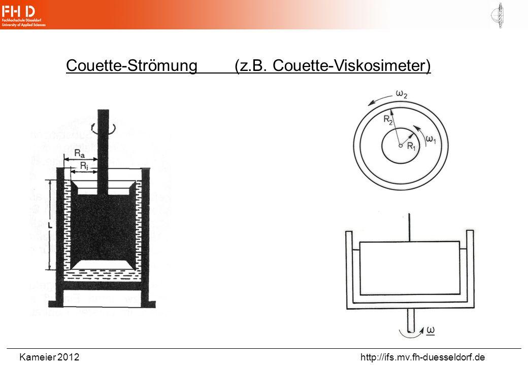 Couette-Strömung (z.B. Couette-Viskosimeter)