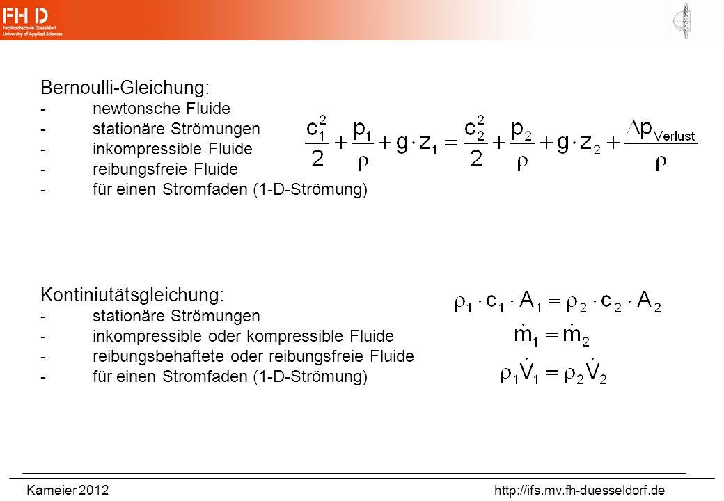 Bernoulli-Gleichung: