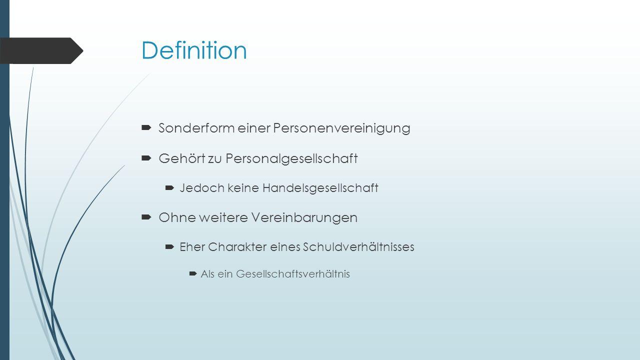 Definition Sonderform einer Personenvereinigung