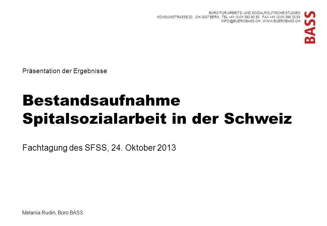 Bestandsaufnahme Spitalsozialarbeit in der Schweiz