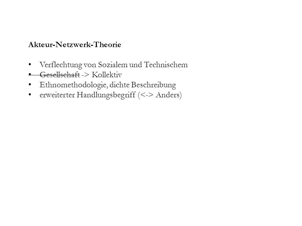 Akteur-Netzwerk-Theorie