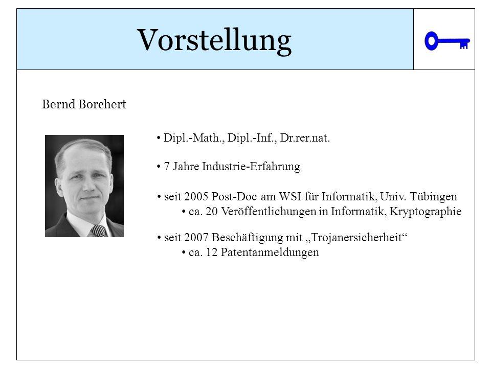 Vorstellung Bernd Borchert Dipl.-Math., Dipl.-Inf., Dr.rer.nat.