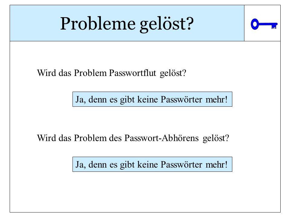Probleme gelöst Wird das Problem Passwortflut gelöst