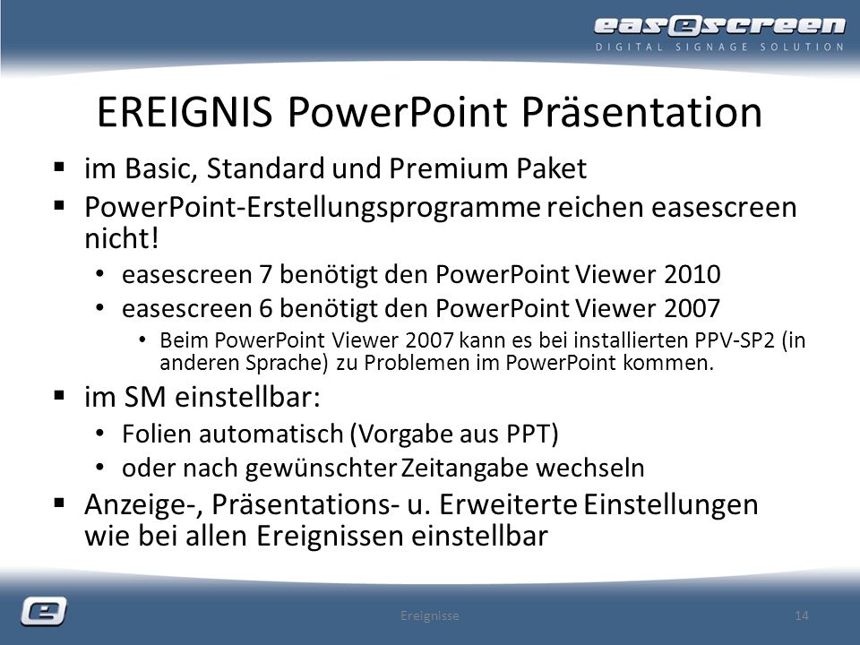 EREIGNIS PowerPoint Präsentation
