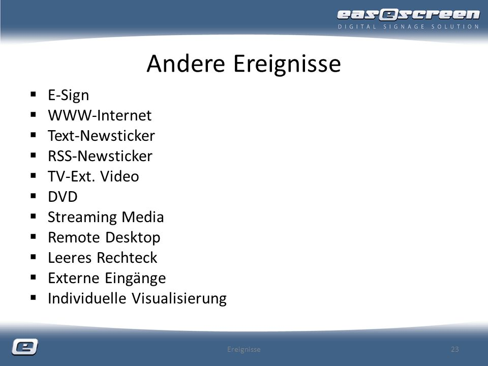 Andere Ereignisse E-Sign WWW-Internet Text-Newsticker RSS-Newsticker