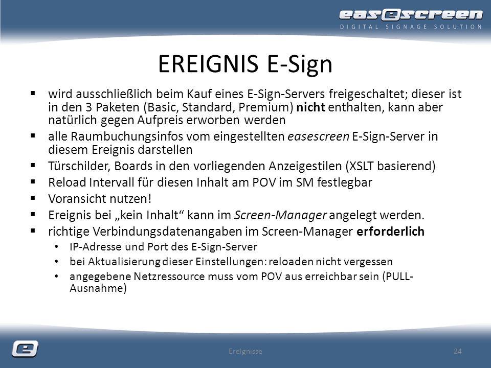 EREIGNIS E-Sign