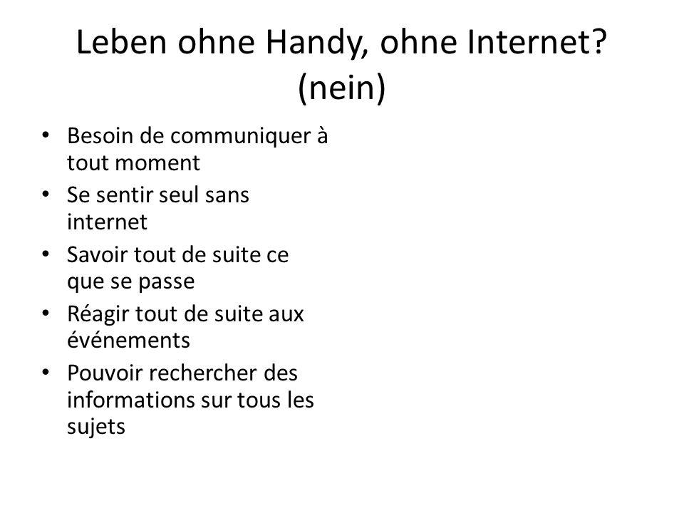Leben ohne Handy, ohne Internet (nein)