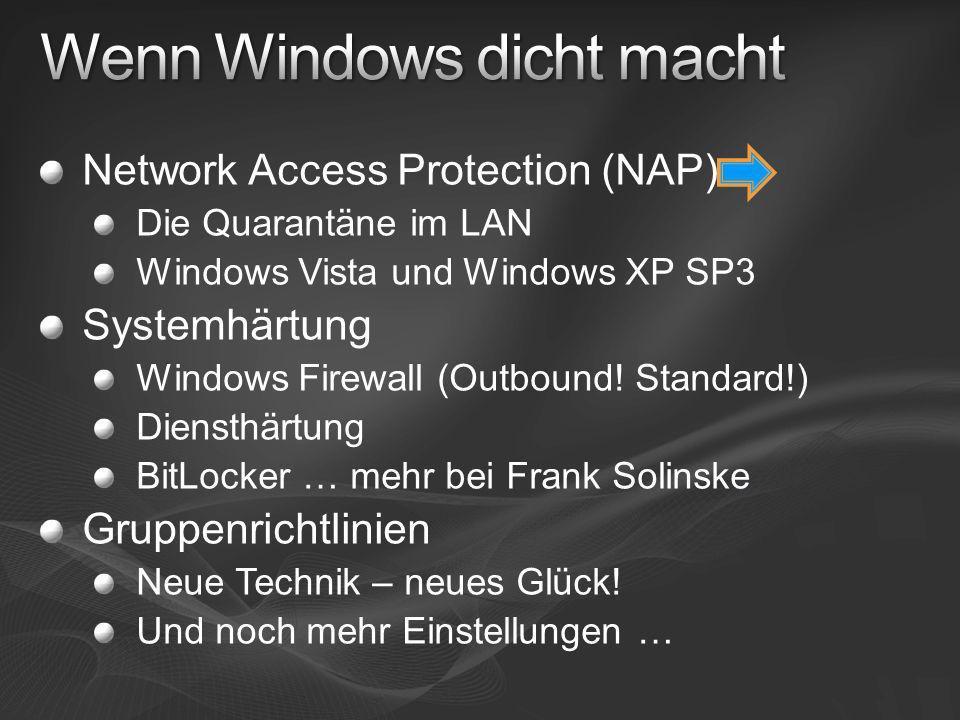 Wenn Windows dicht macht