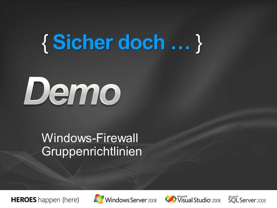 Windows-Firewall Gruppenrichtlinien