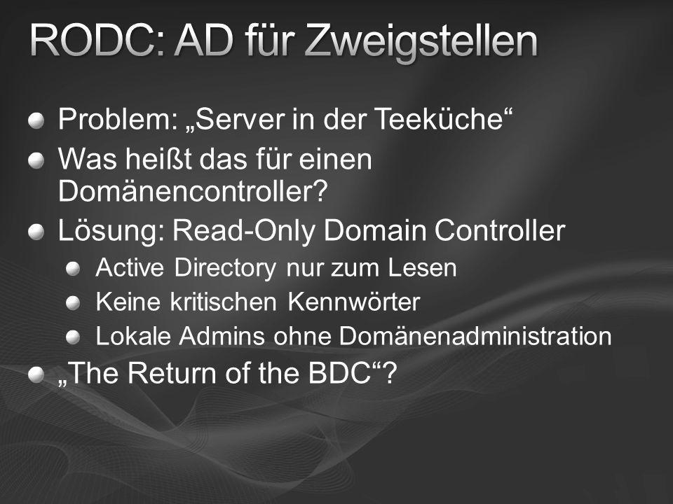 RODC: AD für Zweigstellen