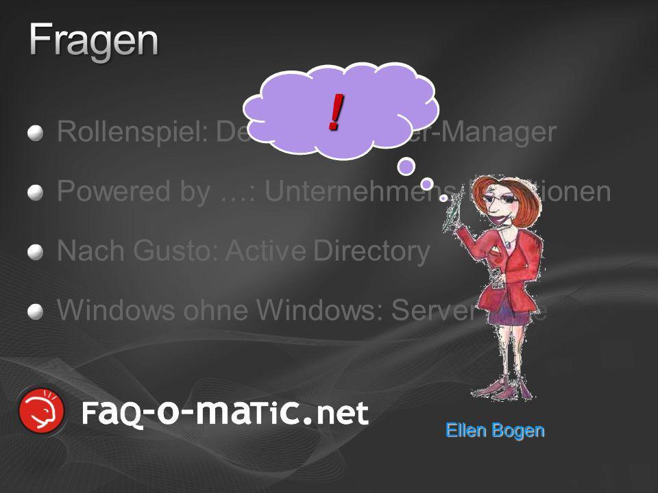 ! Fragen Rollenspiel: Der neue Server-Manager