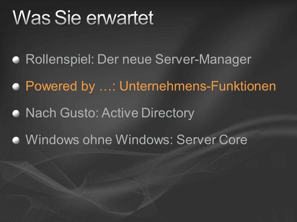 Was Sie erwartet Rollenspiel: Der neue Server-Manager